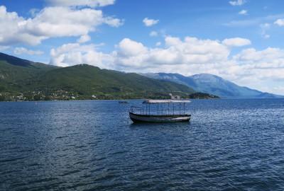 Macedonia Ohrid Lake Boat