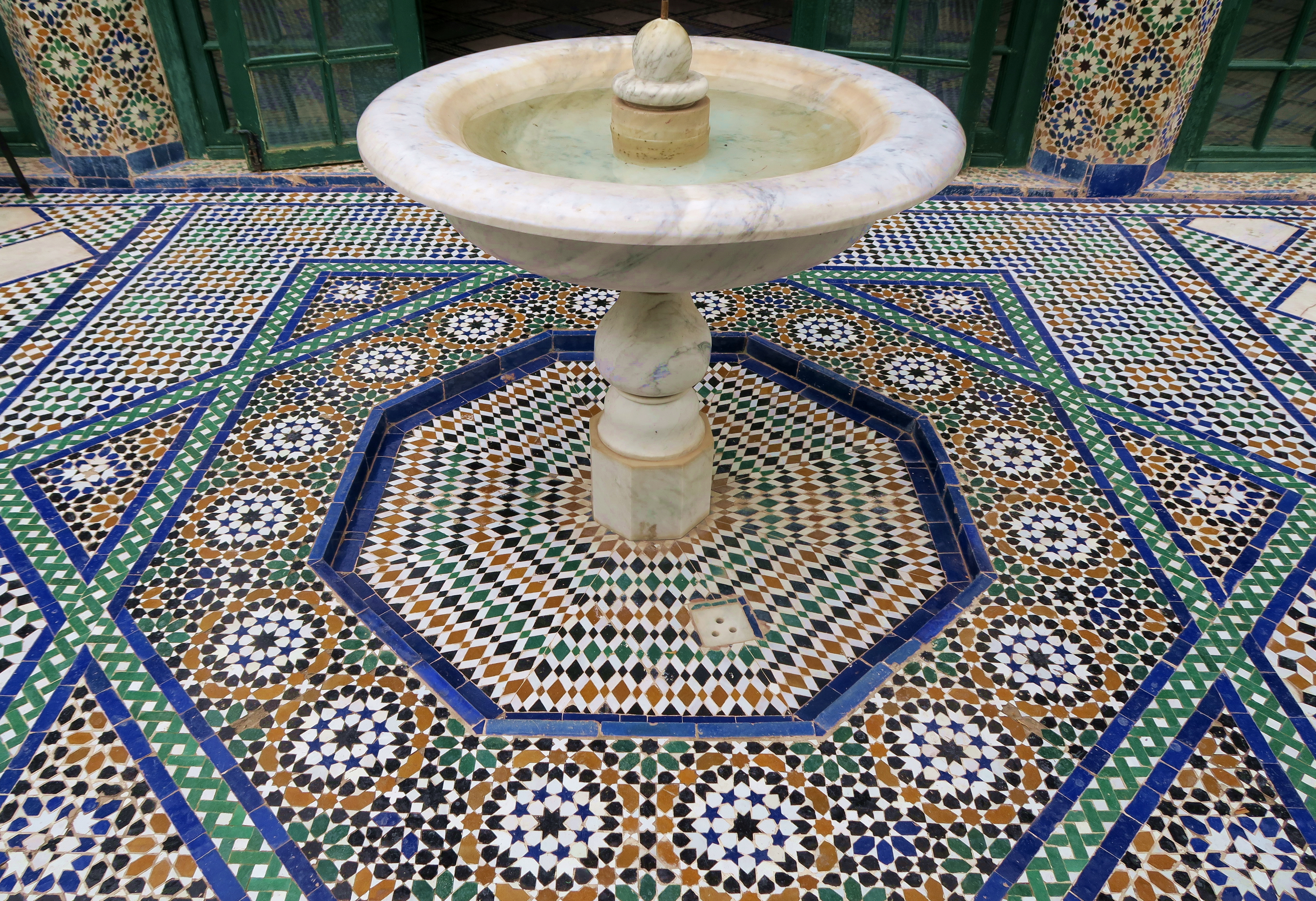 Marrakech El Bahia Palace Fountain