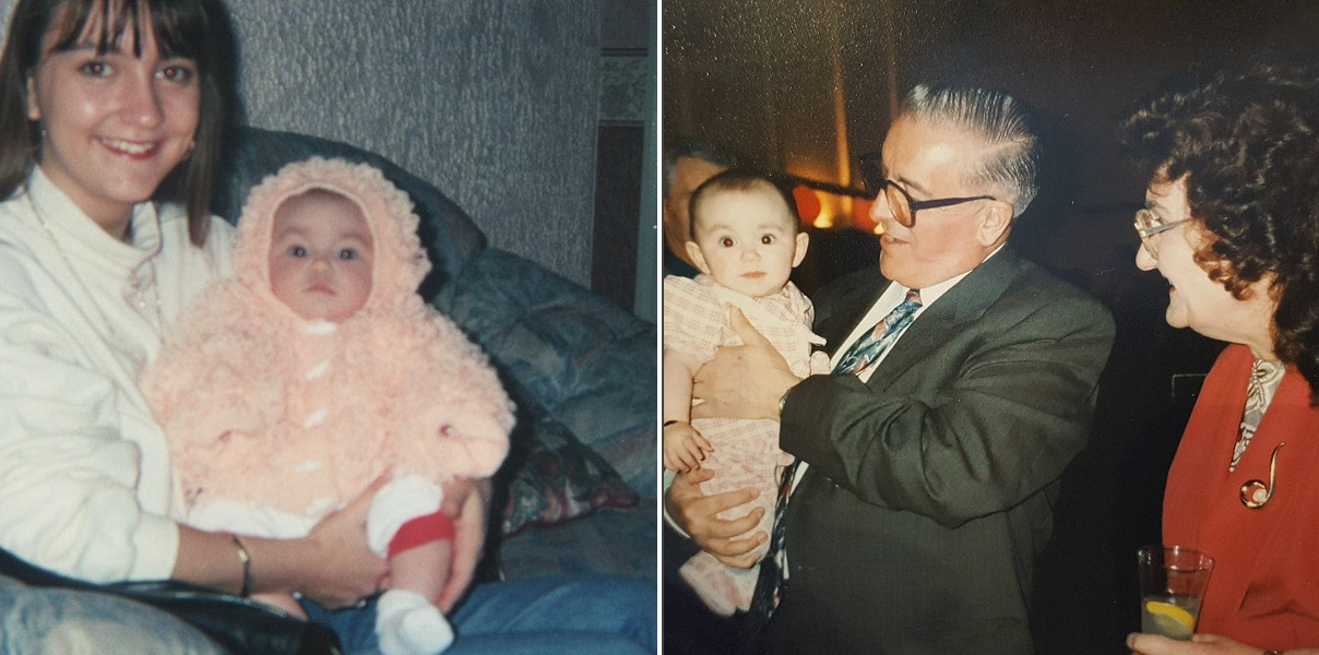 Travelling while grieving - baby photos