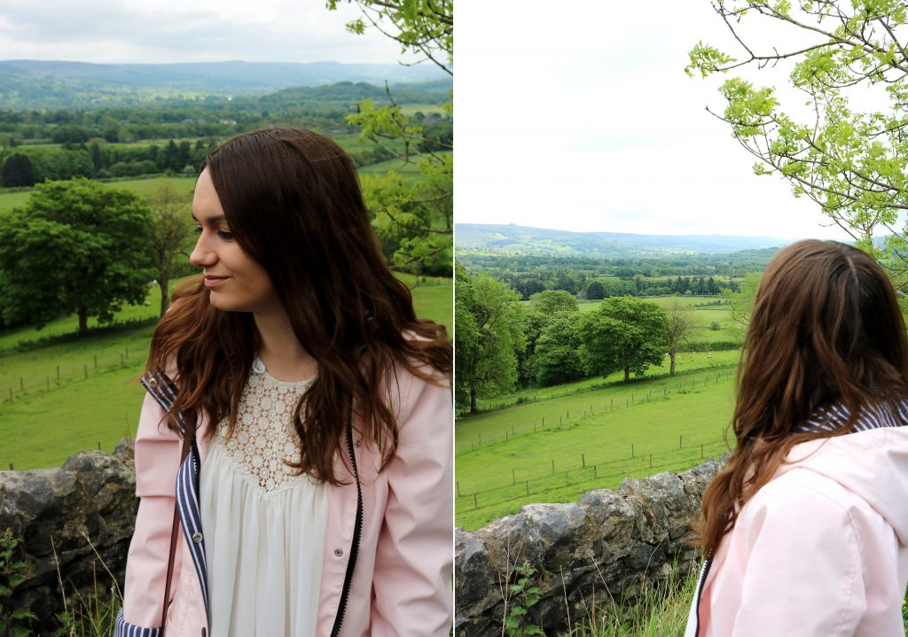 Peak District Girl Pink Raincoat