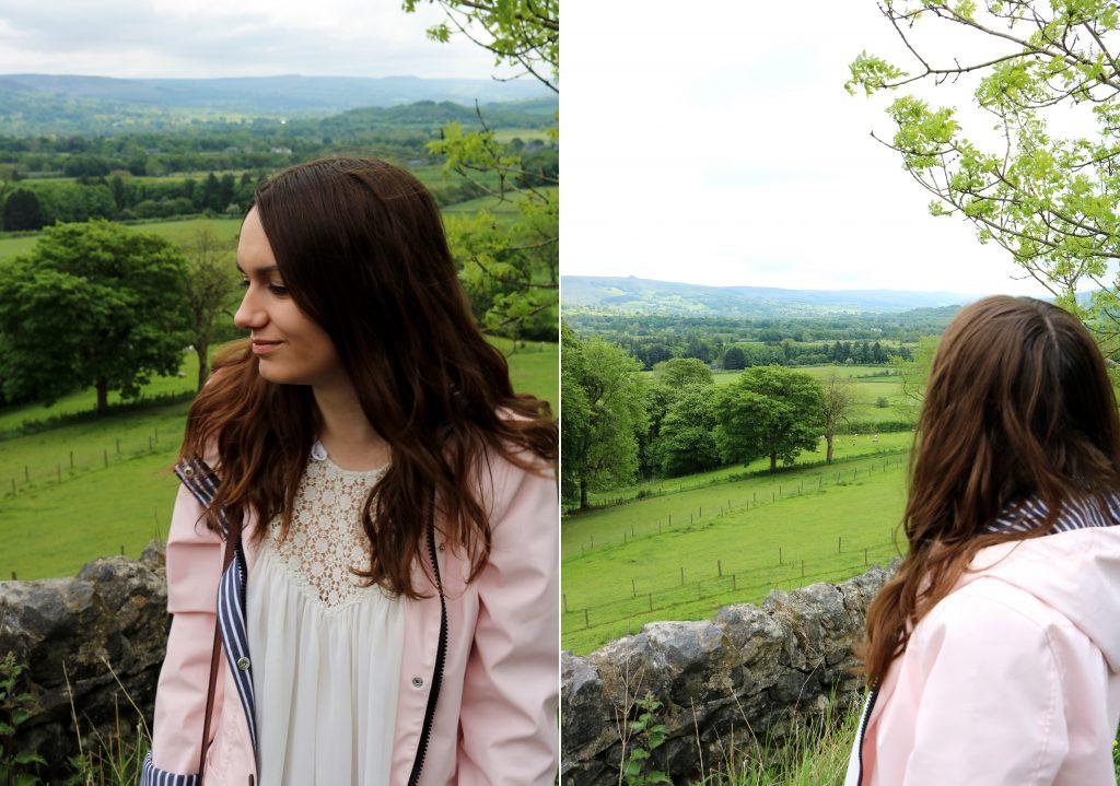 Peak District Girl Pink Raincoat