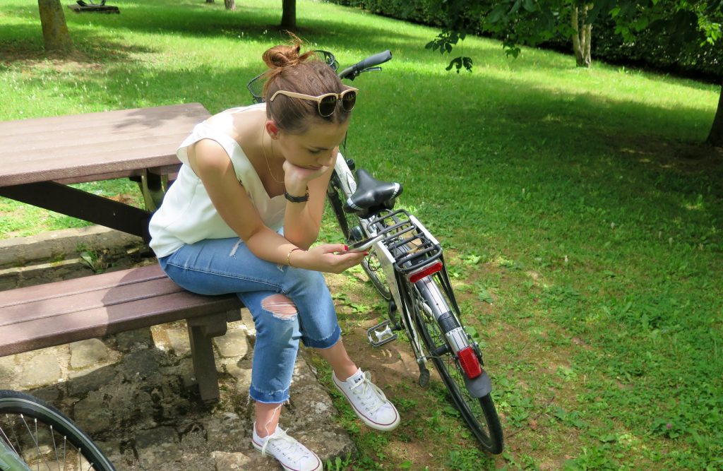 Moselle Bike Girl Resting