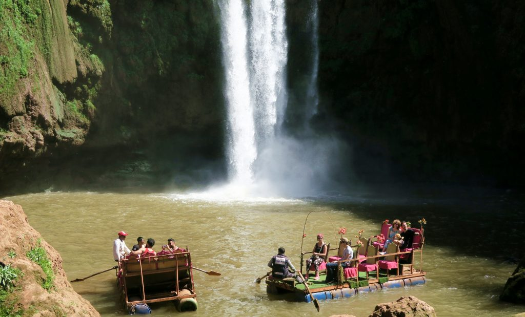 Ouzoud Waterfall Raft Boats