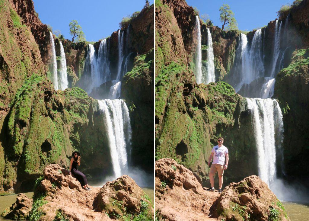 Ouzoud Waterfall Posing Girl Boy