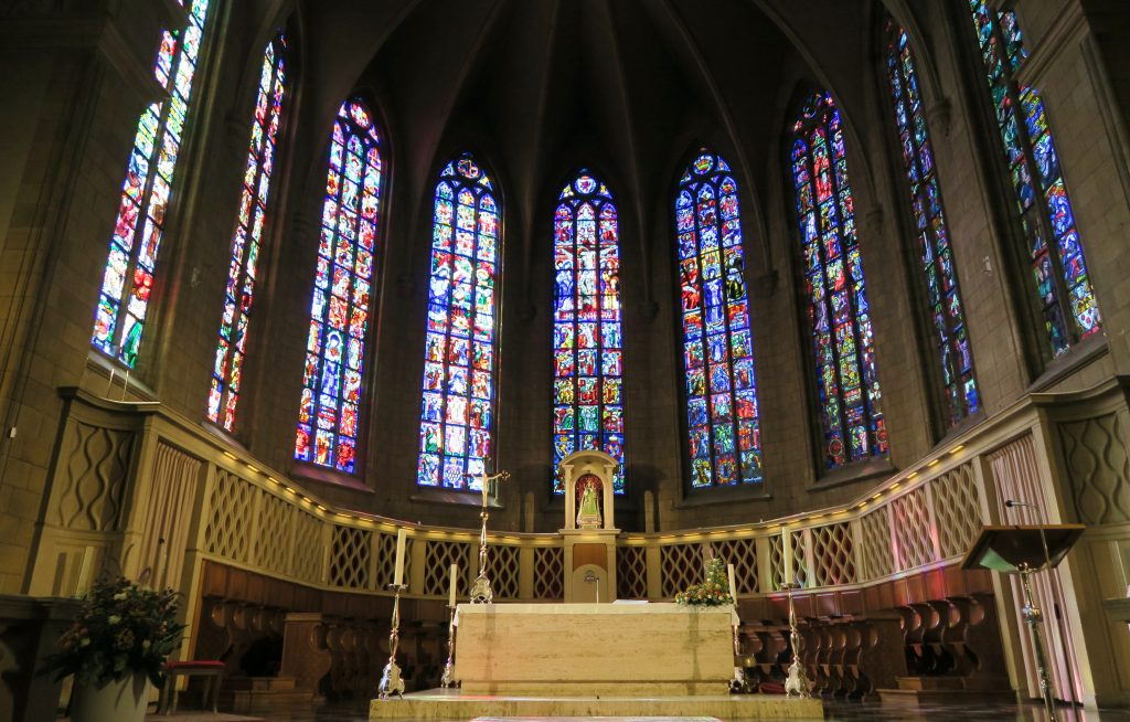 Luxembourg City Notre Dame Stain Glass Windows