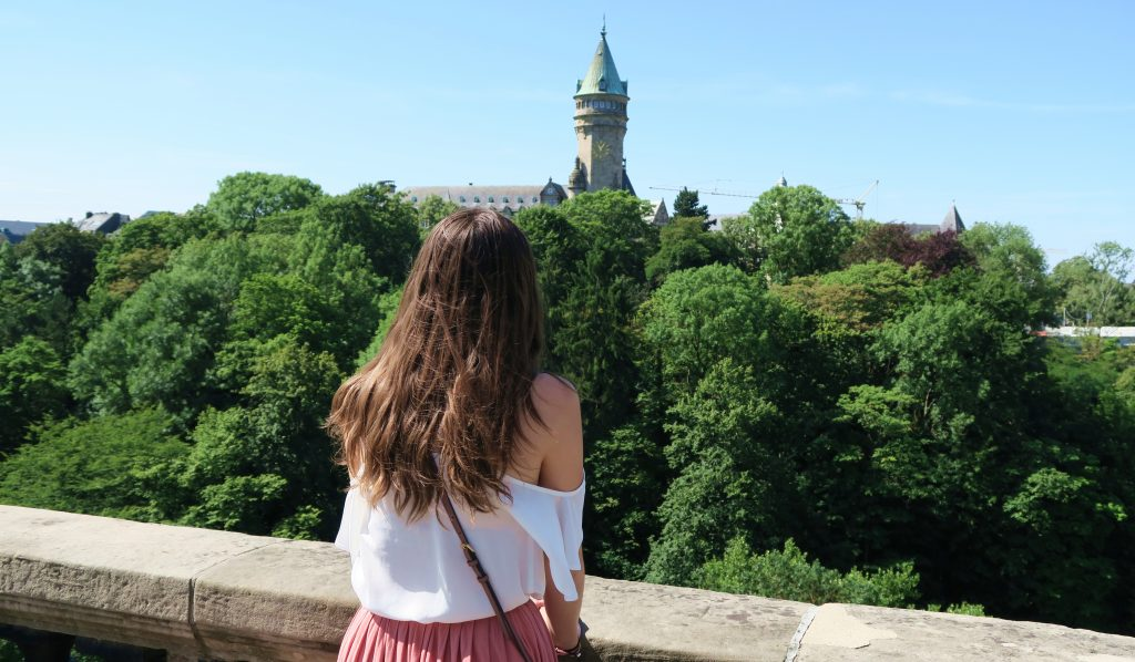Luxembourg City Girl Looking at View