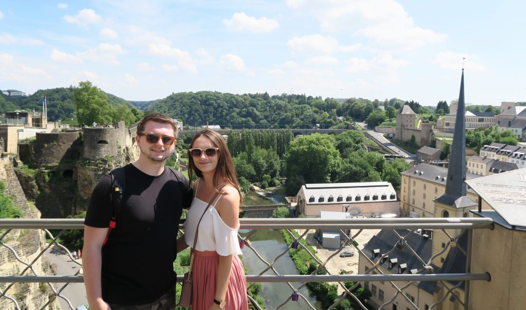 Luxembourg City Couple View