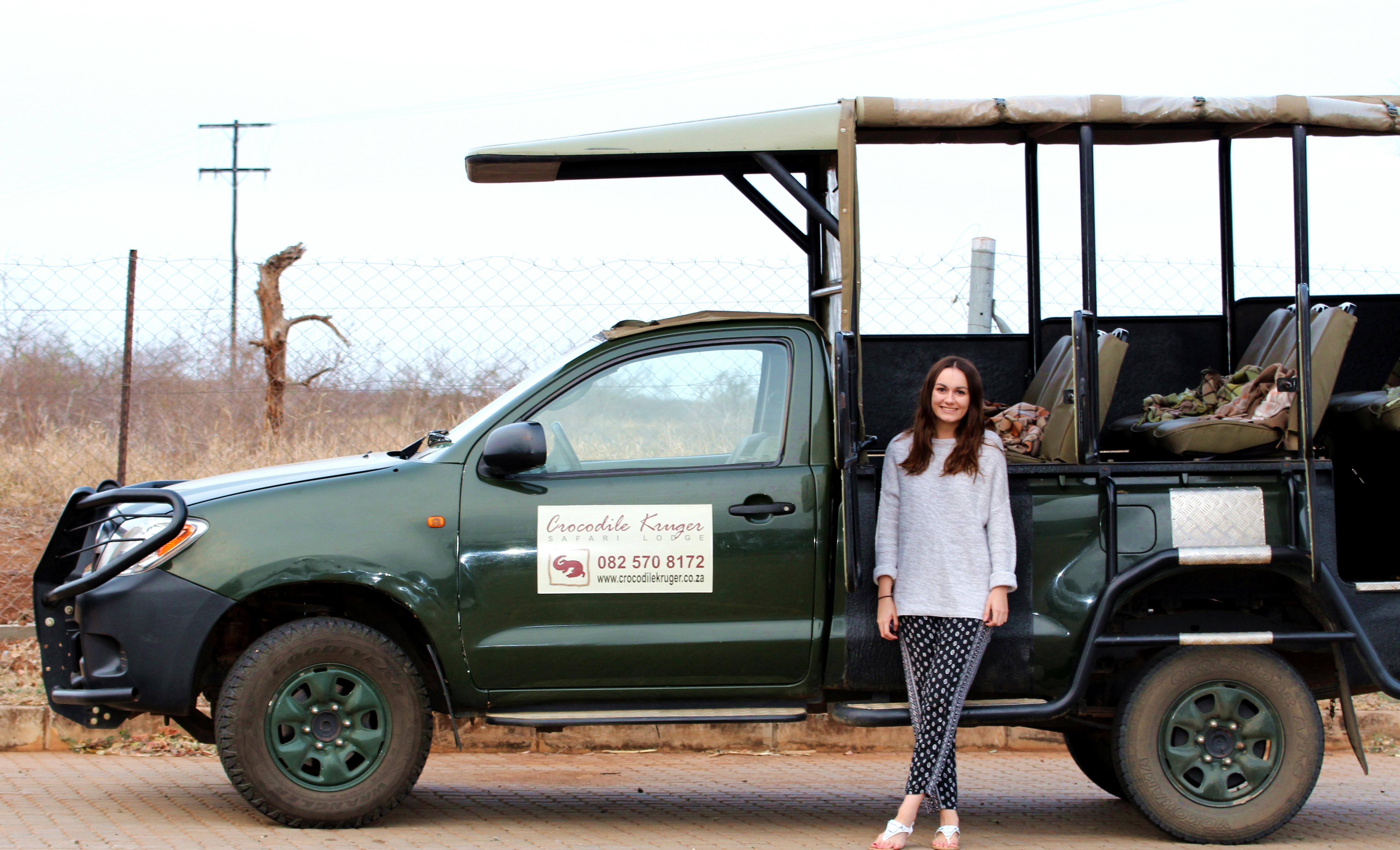 Girl Kruger Safari Jeep