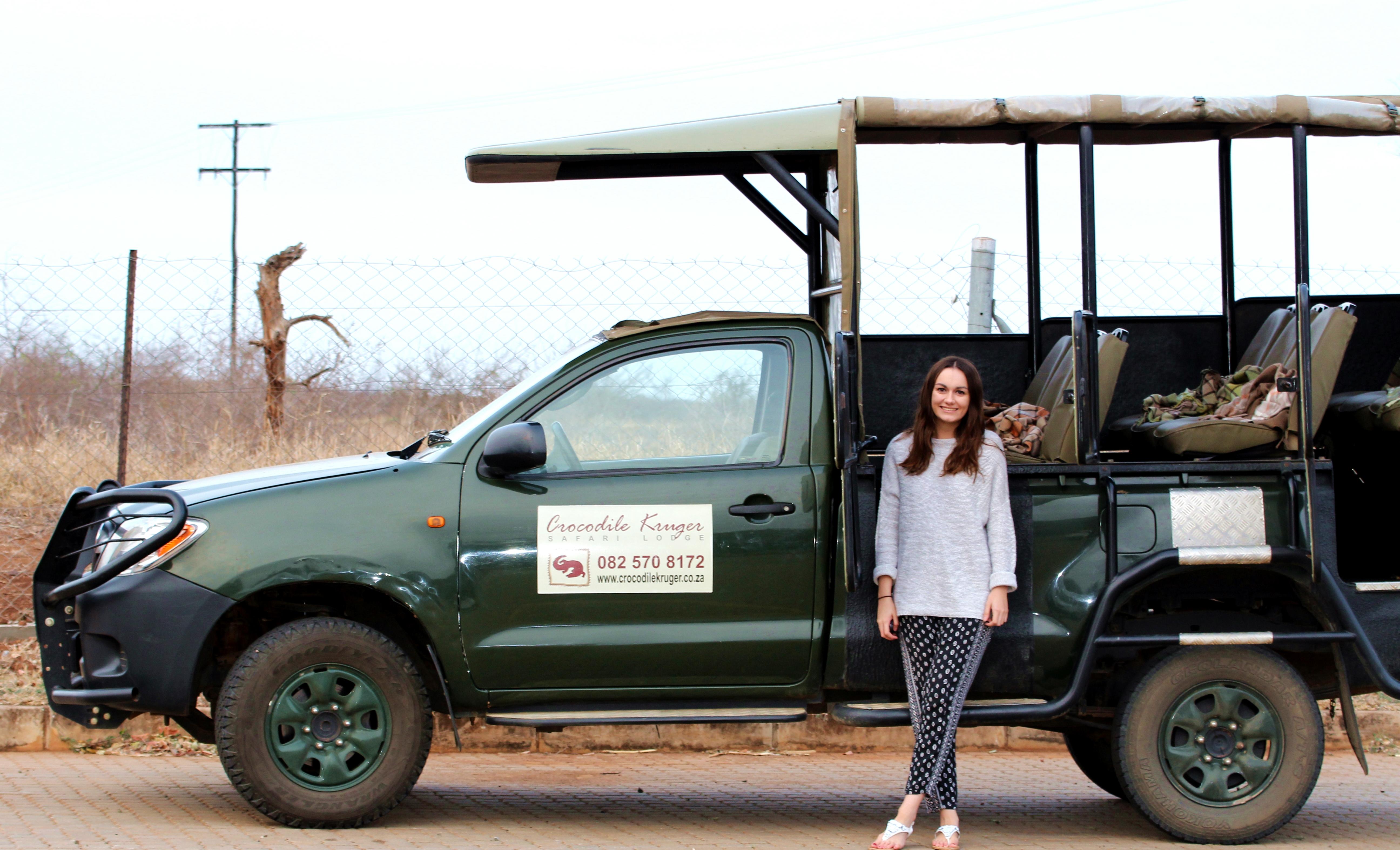 Girl Kruger Safari Jeep