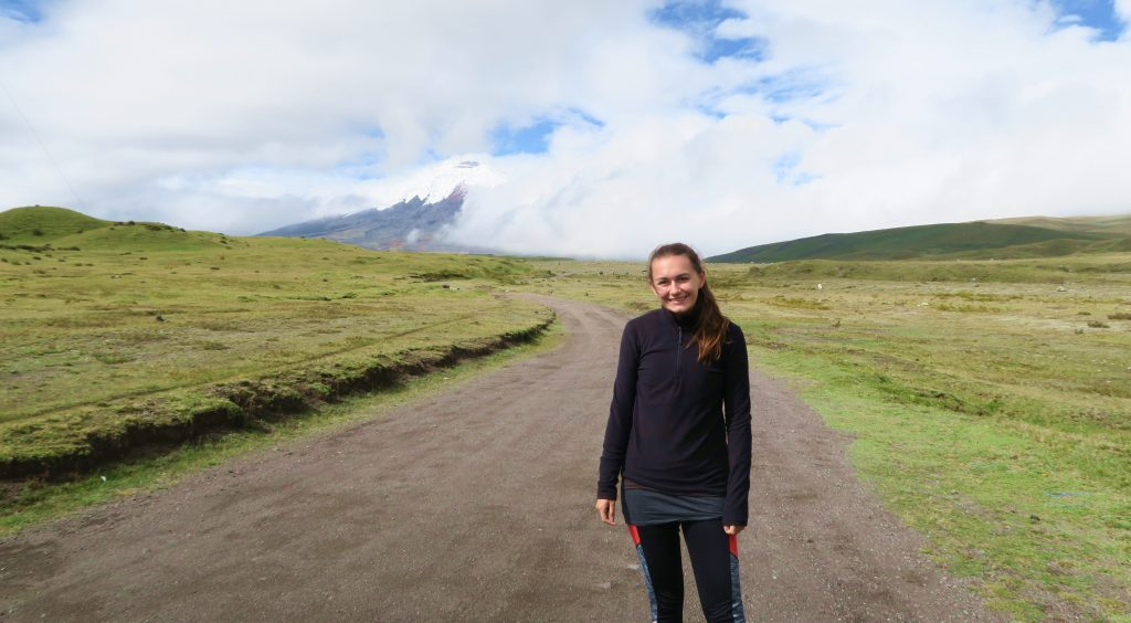 Girl Hiking Cotopaxi Volcano