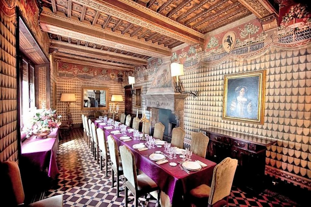 Castle in Italy Luxury Dining Room