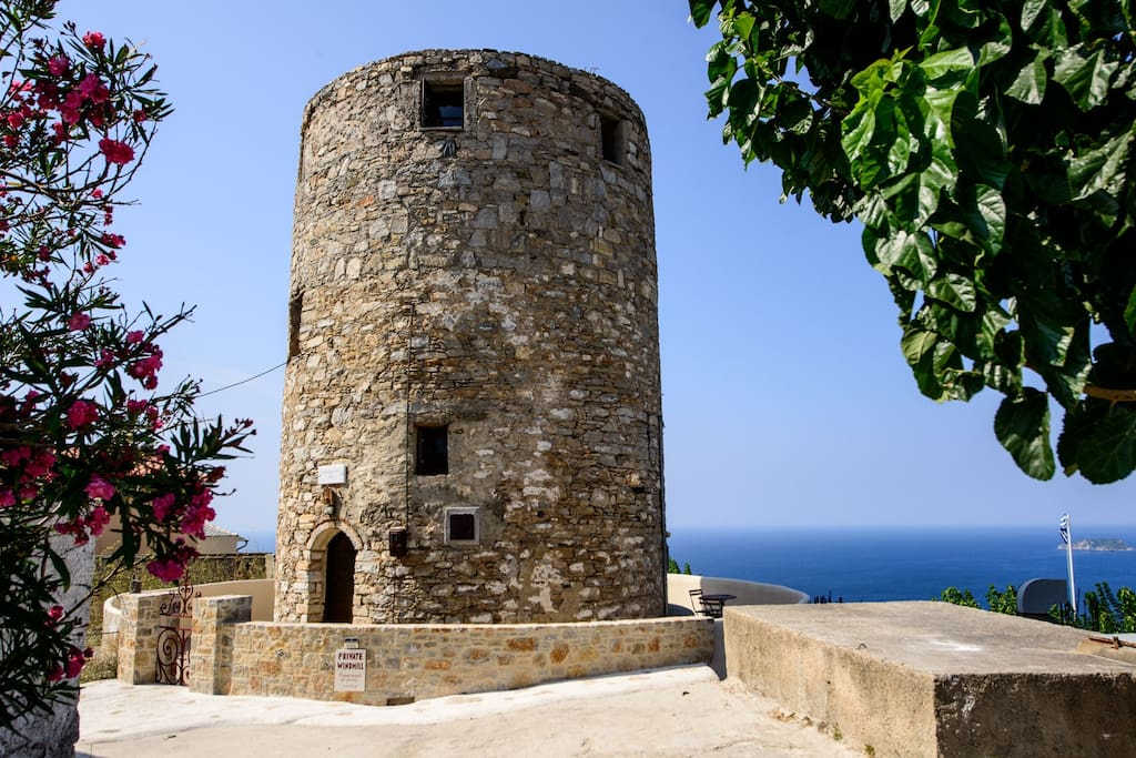 Windmill Castle Greece