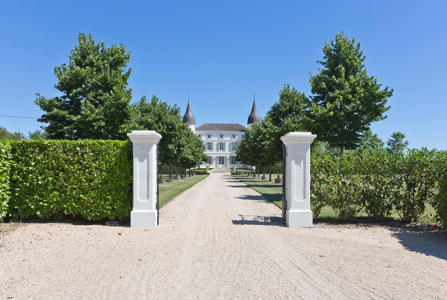French Castle Driveway