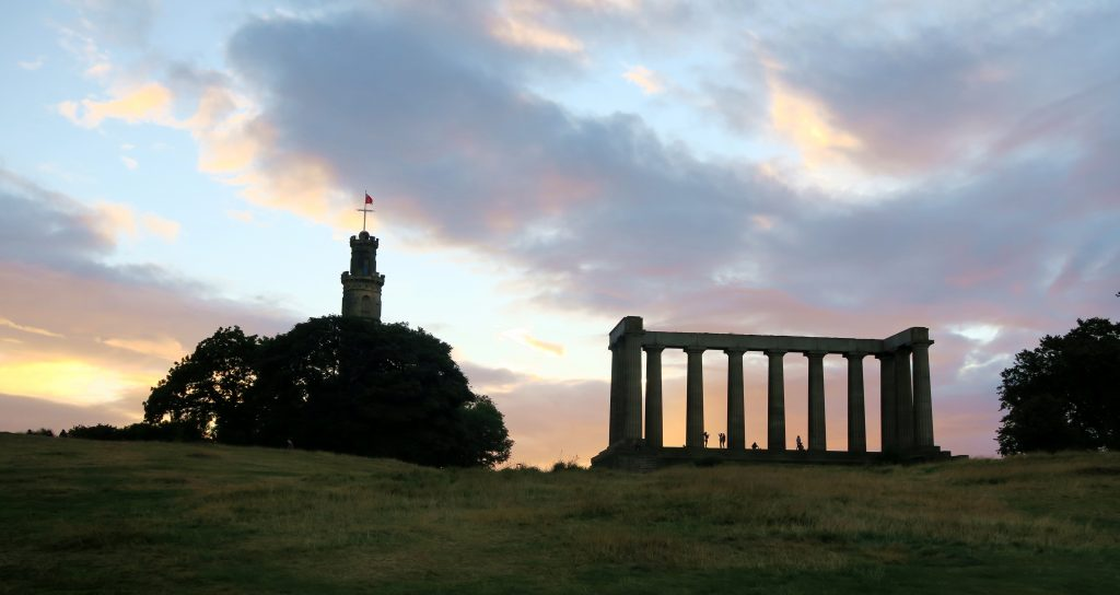 Calton Hill at Sunset