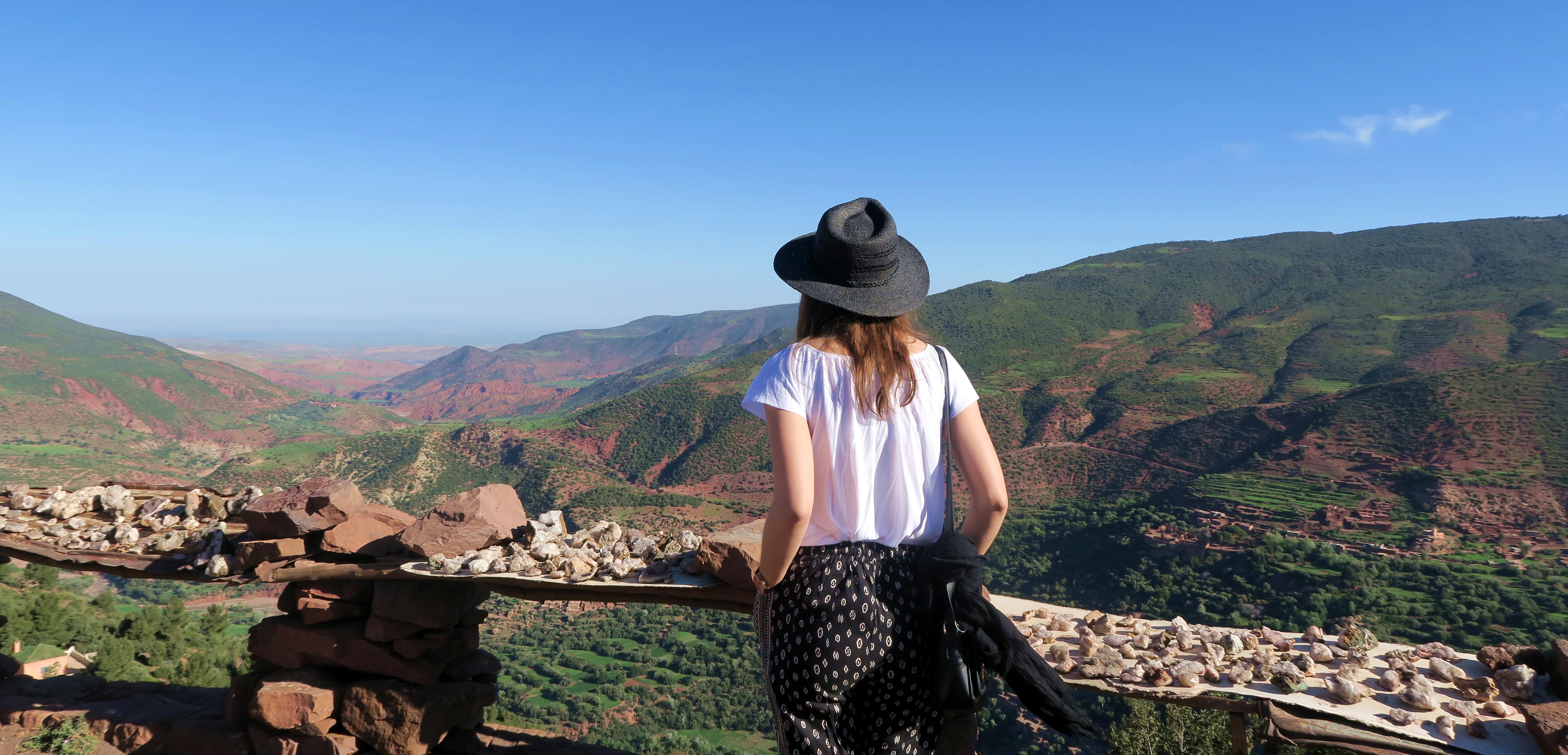 Atlas Mountains Girl Scenery