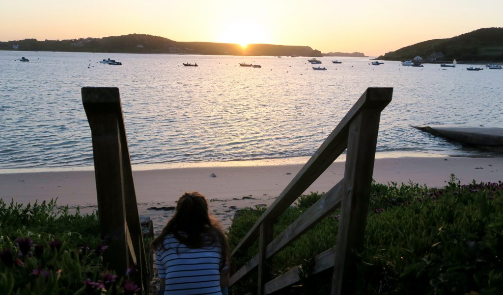 Tresco - Isles of Scilly - Sunset Girl
