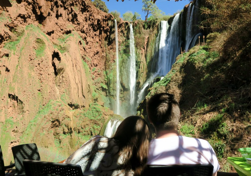 Ouzoud Waterfall Couple