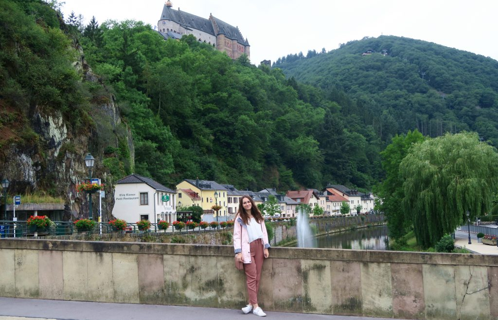 Girl Vianden Scenery
