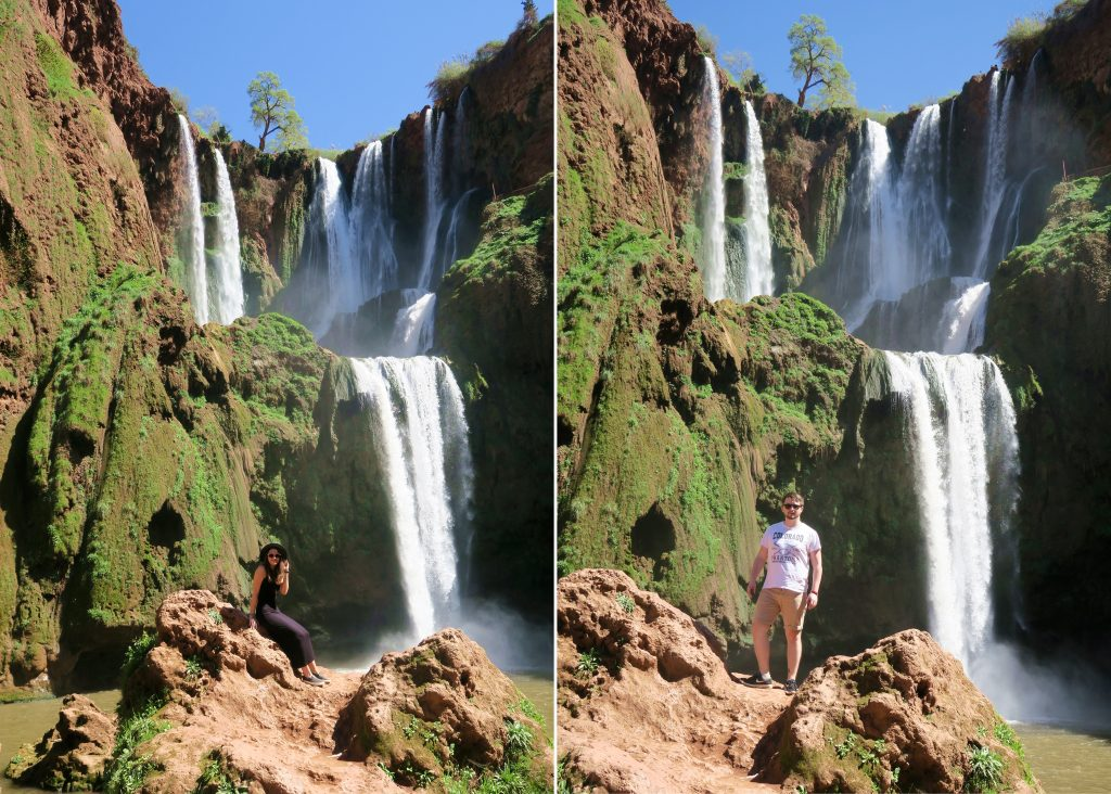 Ouzoud Waterfall Posing Girl Boy