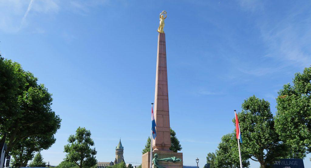 Luxembourg City Place De La Constitution Statue