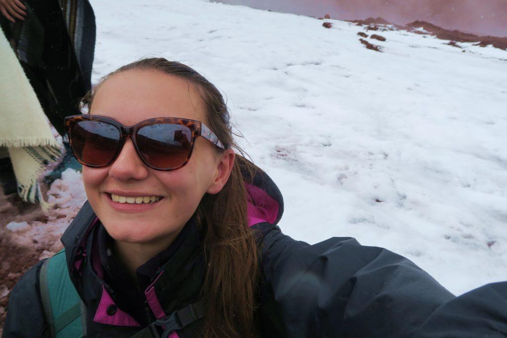 Girl Cotopaxi Glacier