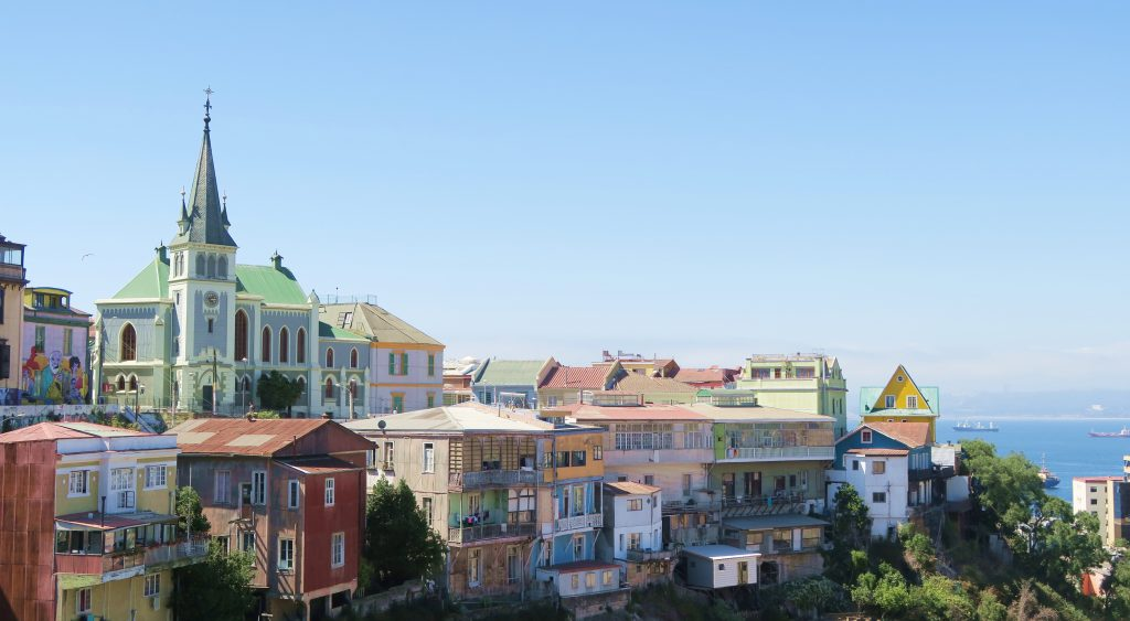Chile Valparaiso Colourful Houses