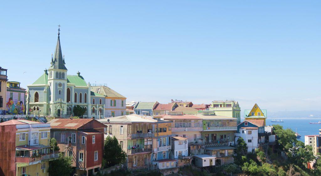 Chile Valparaiso Colourful Houses