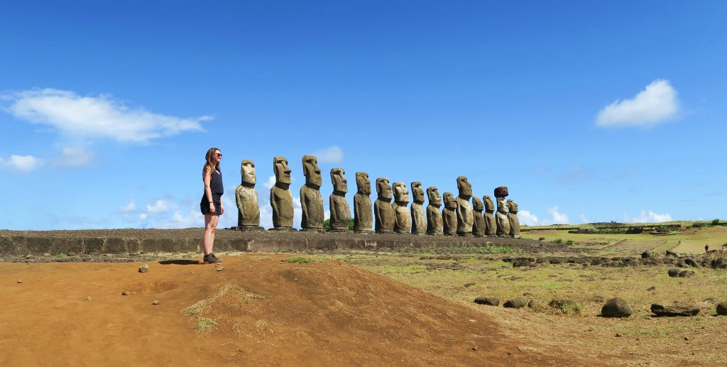 Easter Island Girl With Heads