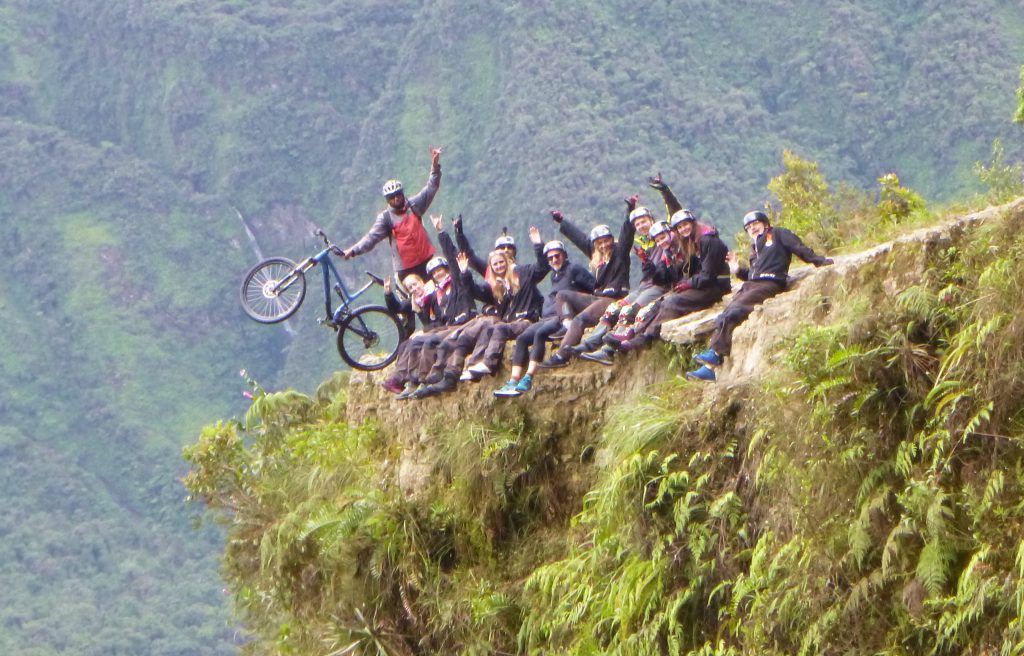 Gravity - Death Road, Bolivia - Group on Edge