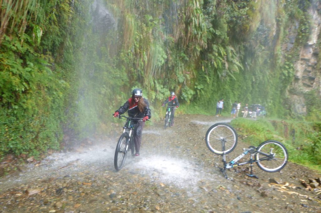 Gravity - Death Road, Bolivia - Girl In Waterfall