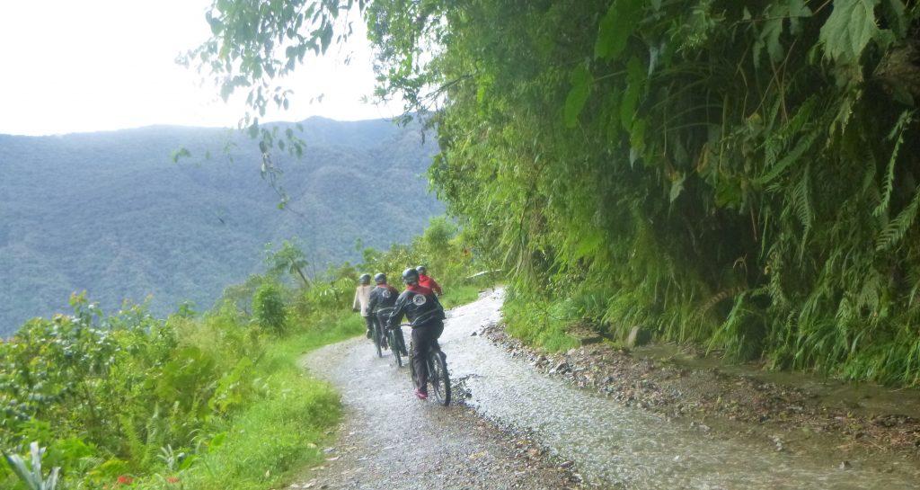 Gravity - Death Road, Bolivia - Riders on Path