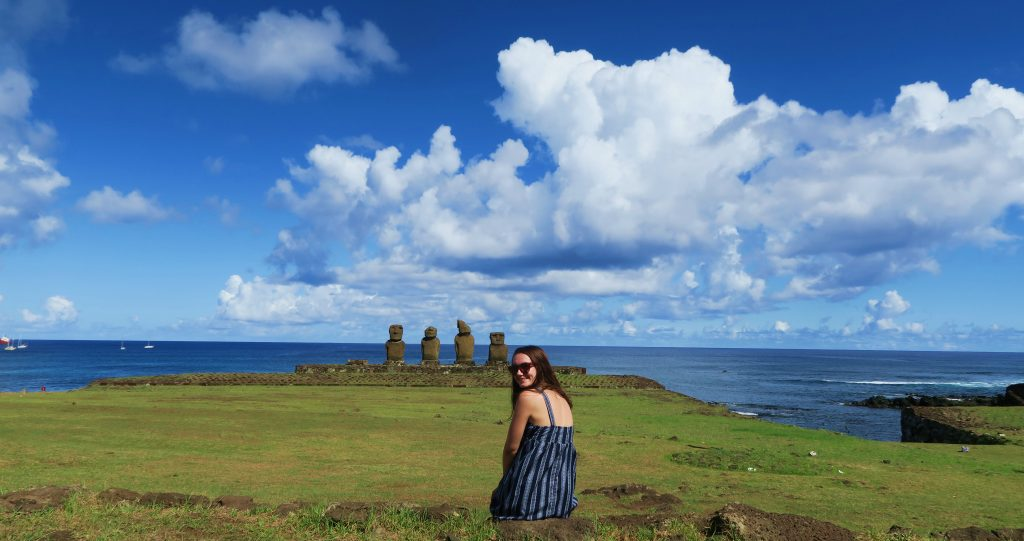 Easter Island Girl Sightseeing