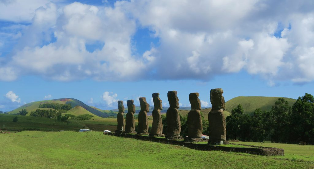 Easter Island Heads From Behind