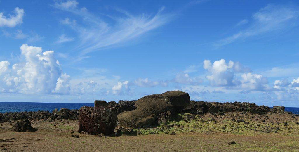Fallen Moai at Te Pito Kura