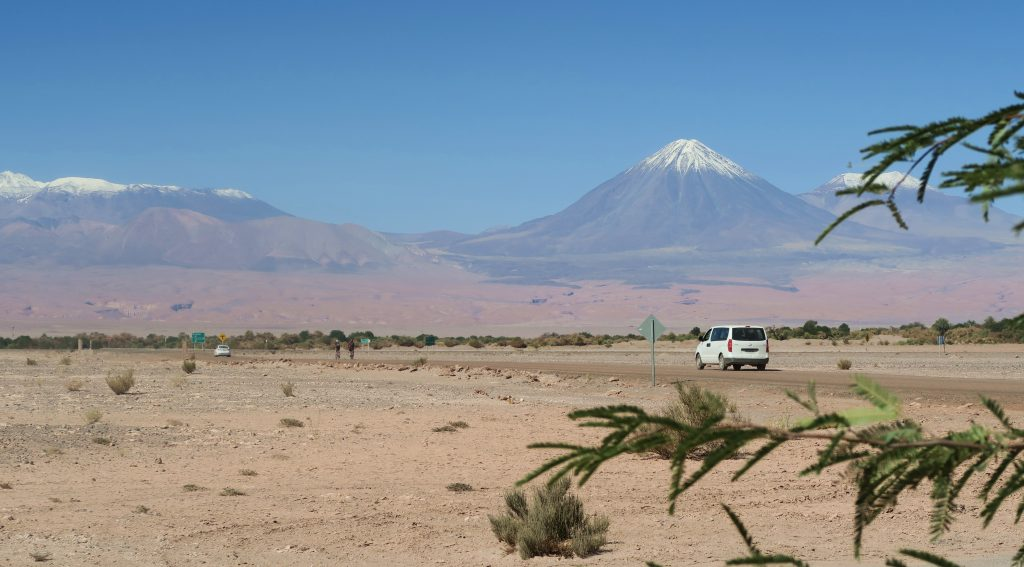 Car Snow Capped Mountains San Pedro De Atacama