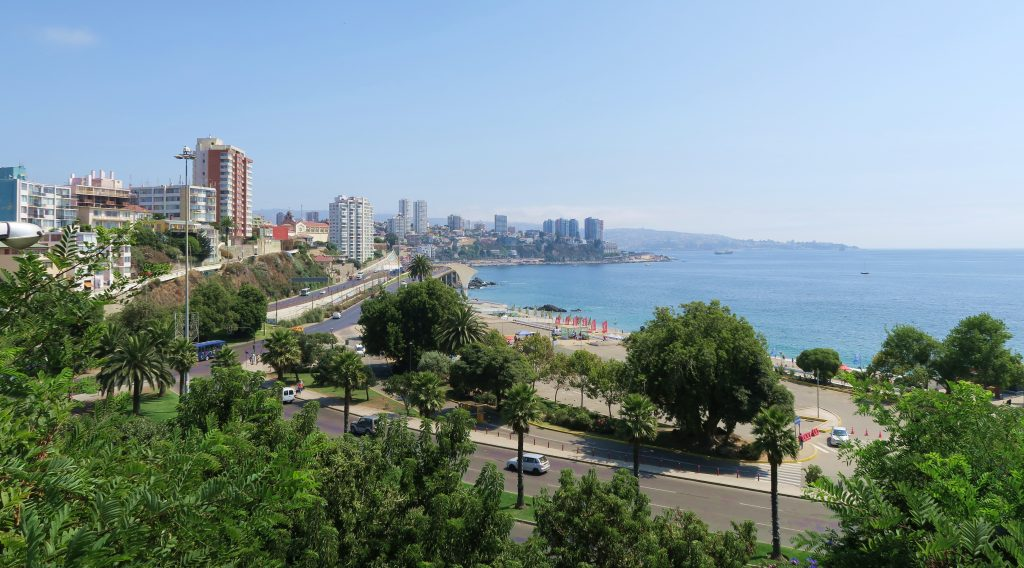 Vina Del Mar Beach and City Scape