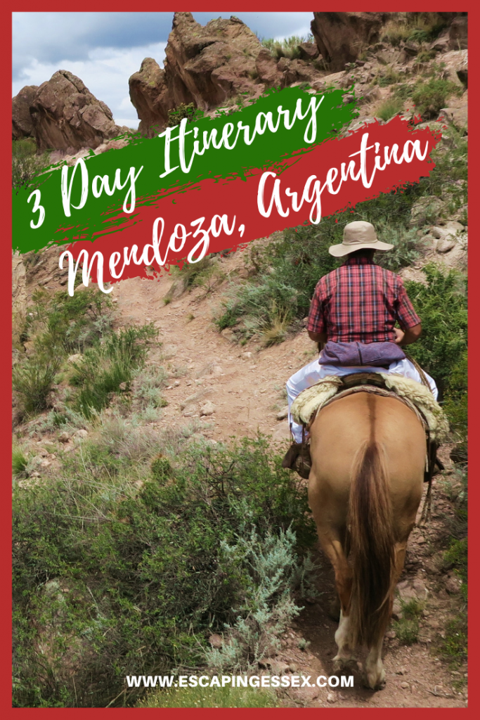 3 DAY ITINERARY FOR MENDOZA, ARGENTINA - It's not just a wine region, there's so much more to explore! From horse riding in the Andes to relaxing in thermal baths, Mendoza is the ultimate destination!