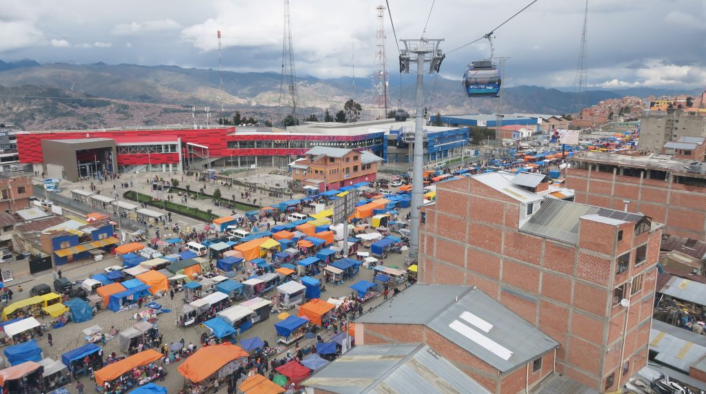 El Alto Flea Market From Above