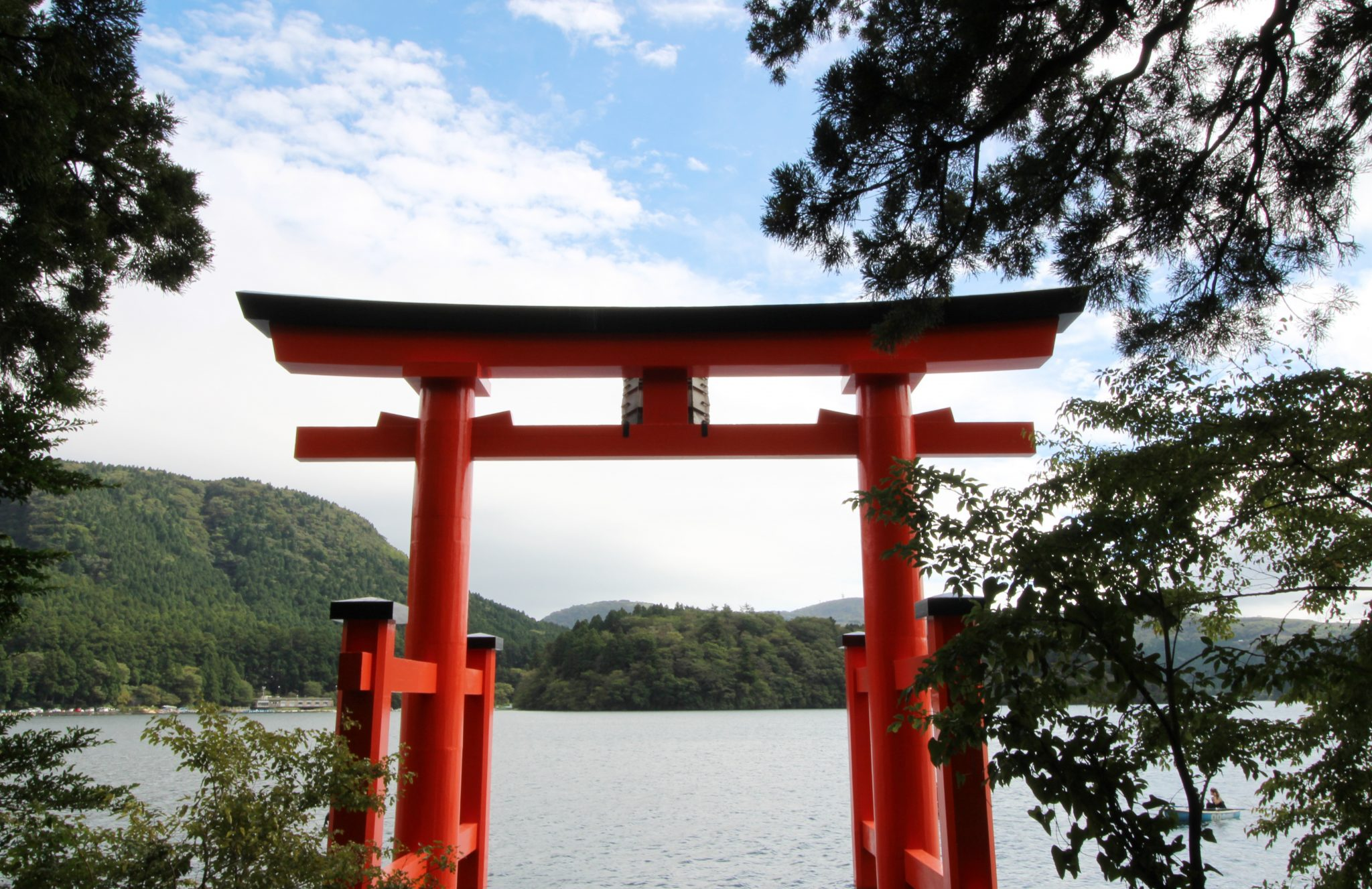Hakone, Japan oramge Torii shrine