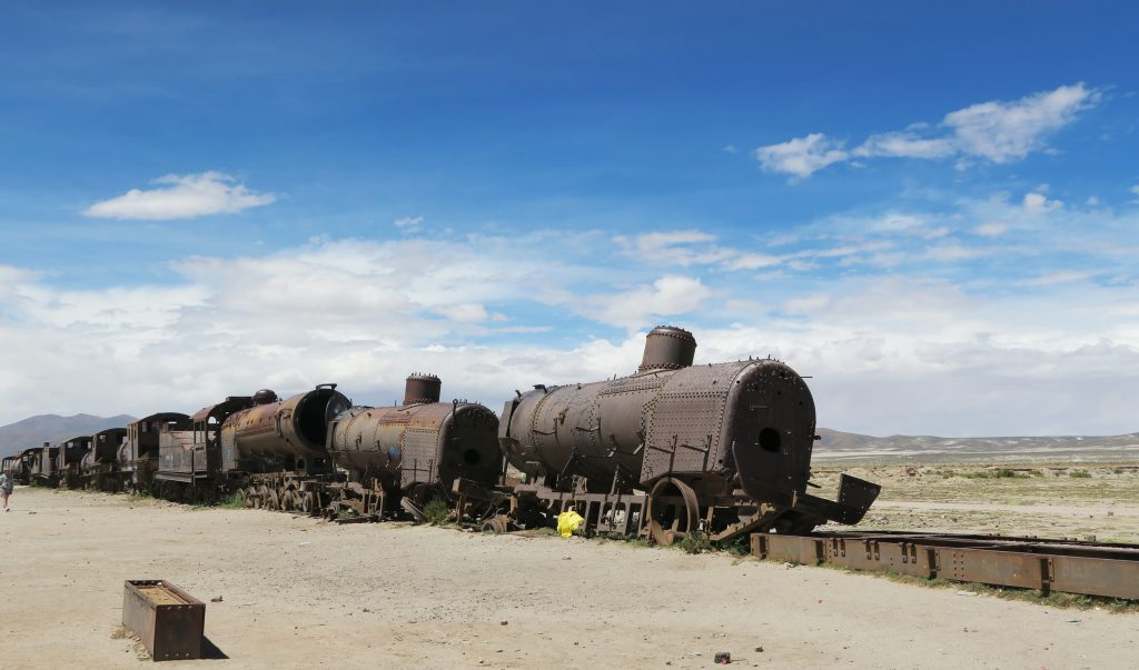 Train cemetary in Uyuni