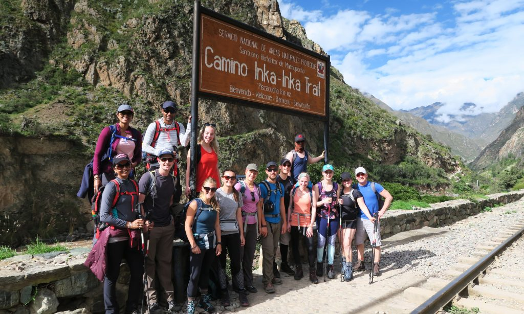Alpaca Expeditions Inca Trail Group at the Start Point