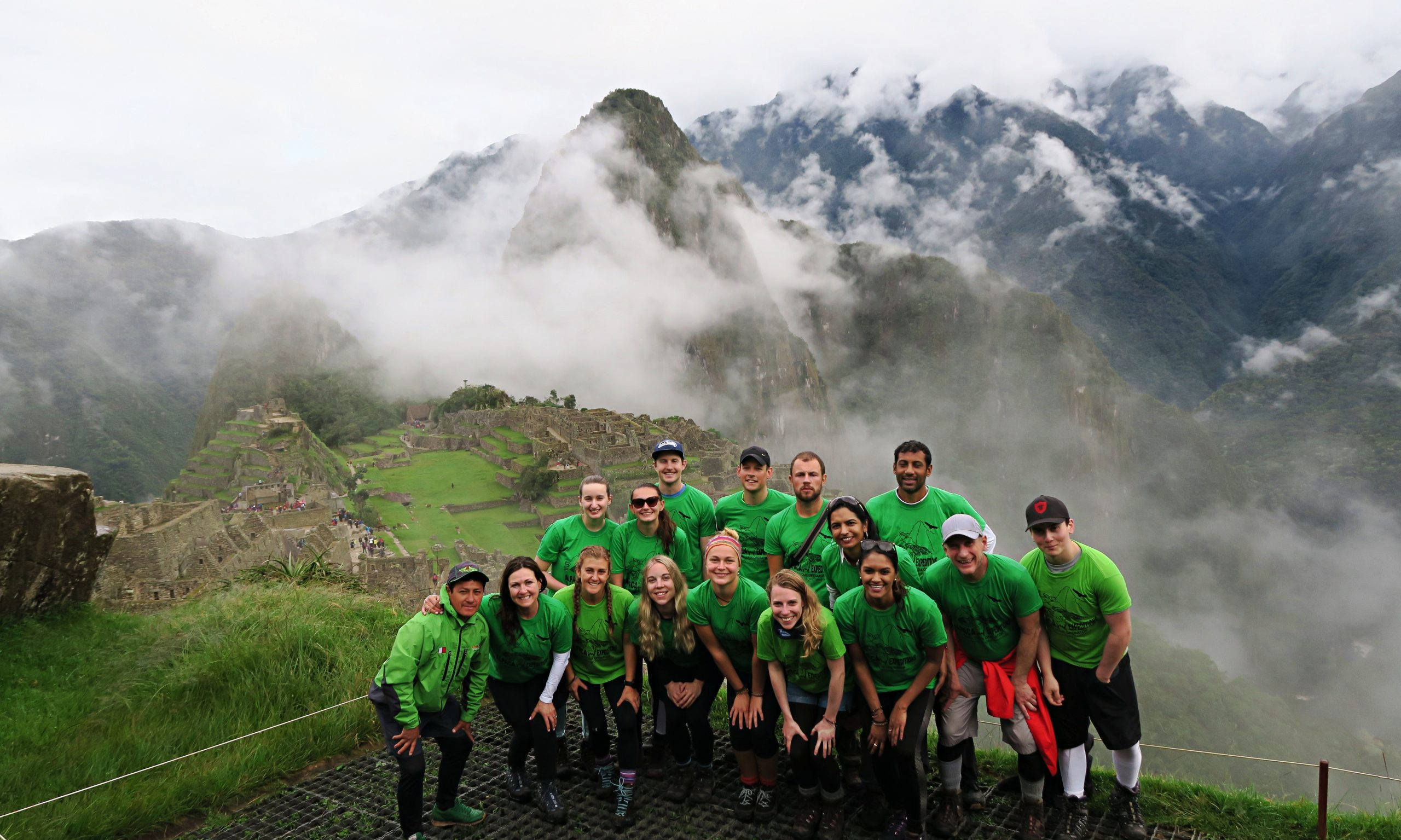 Alpaca Adventures Team Reaching Machu Picchu