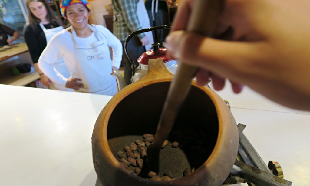 Making Chocolate in Cusco
