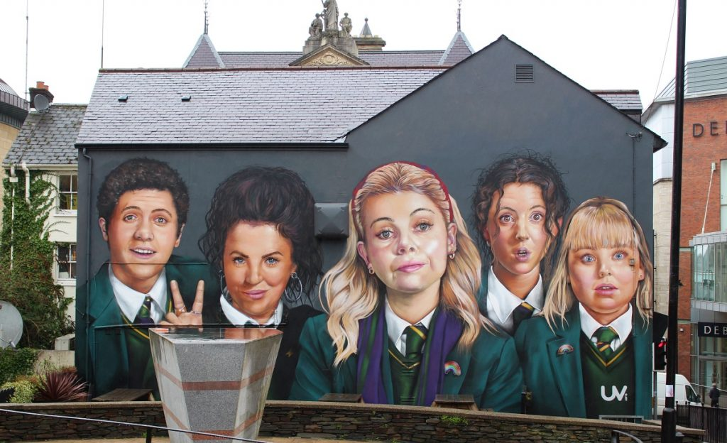 Derry Girls Mural in Derry
