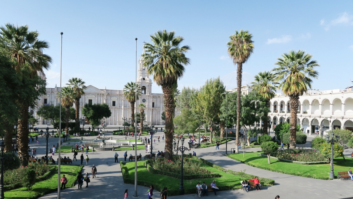 View of Arequipa Plaza Del Armas