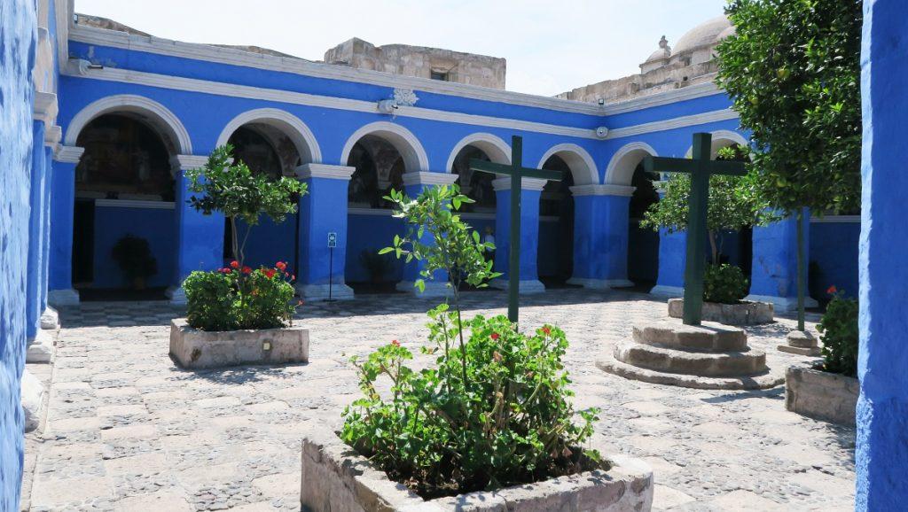 Blue Buildings at Santa Catalina Monastery