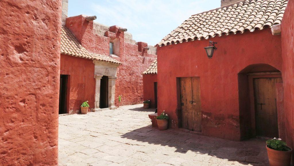 Red Alleyway at Santa Catalina Monastery