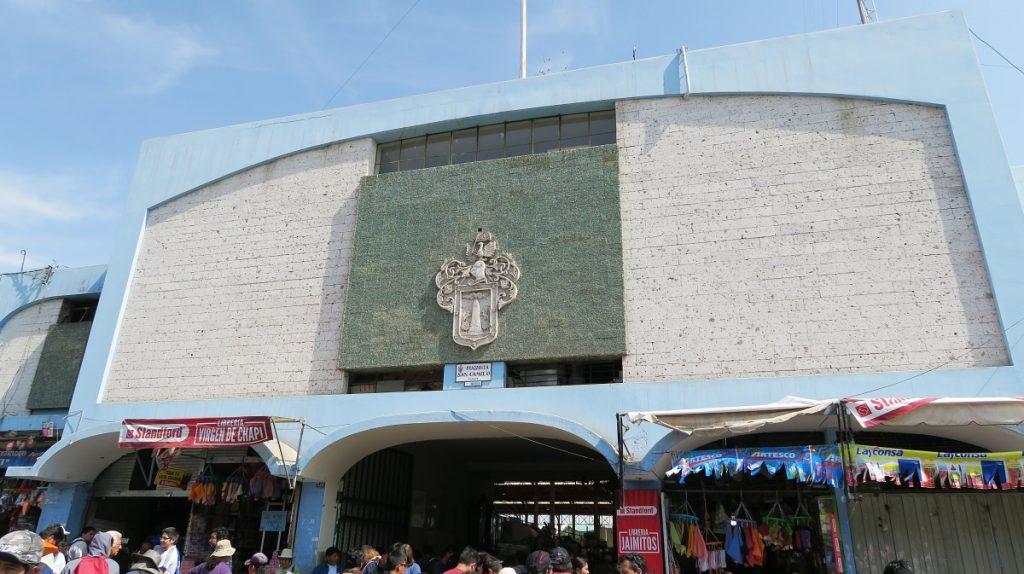 Entrance to San Camillo Market Arequipa
