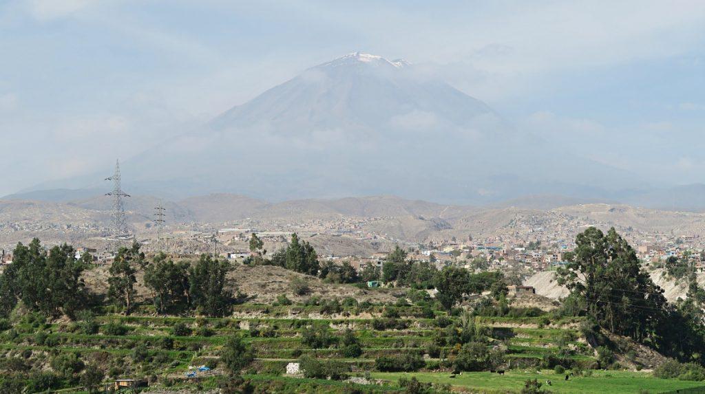 View of El Misti from Mirador de Yanahuara