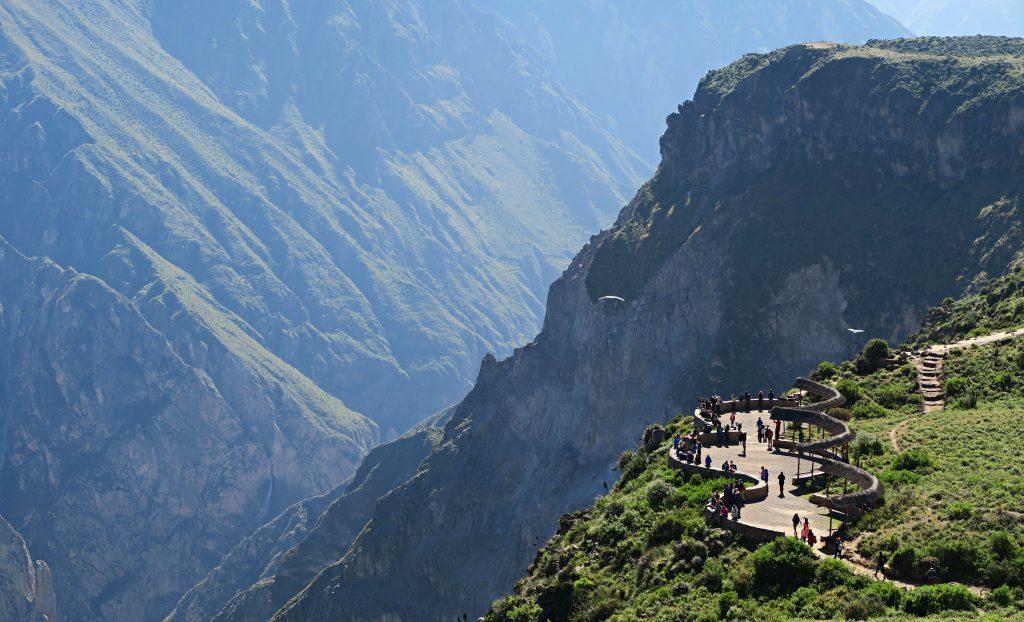 Colca Canyon Viewing Platform Mirador Cruz Del Condor